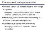 process calculi and synchronization