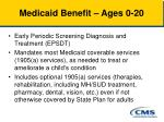 medicaid benefit ages 0 20