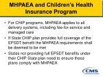 mhpaea and children s health insurance program