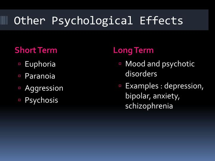 Other Psychological Effects