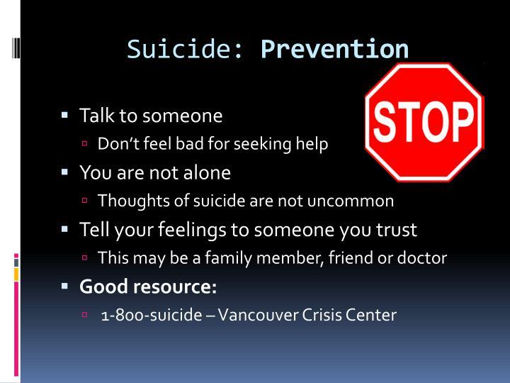 Suicide: