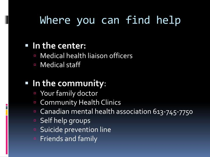 Where you can find help