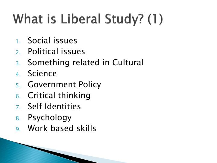 What is liberal study 1