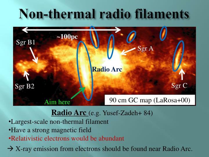 Non-thermal radio filaments