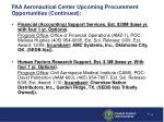 faa aeronautical center upcoming procurement opportunities continued