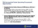 faa aeronautical center upcoming procurement opportunities