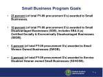 small business program goals