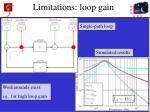 limitations loop gain