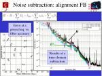 noise subtraction alignment fb