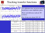 tracking transfer functions