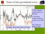 vetoes of false gravitational waves