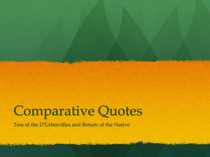 comparative quotes n.