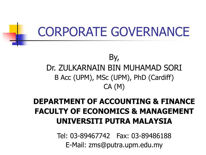 Ppt corporate governance powerpoint presentation id3739128 corporate governance n toneelgroepblik Gallery
