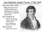 jean baptiste joseph fourier 1768 1830