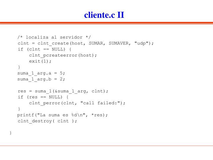 cliente.c II