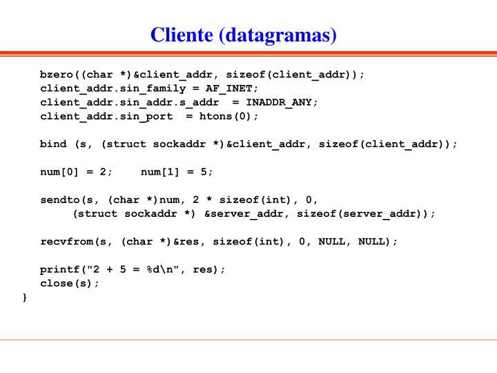 Cliente (datagramas)