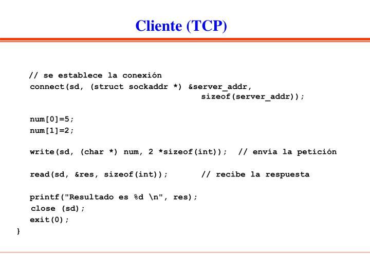Cliente (TCP)