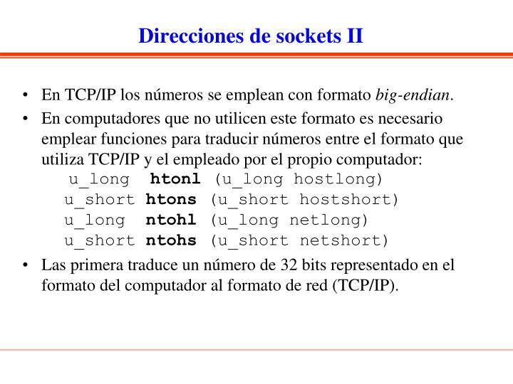Direcciones de sockets II