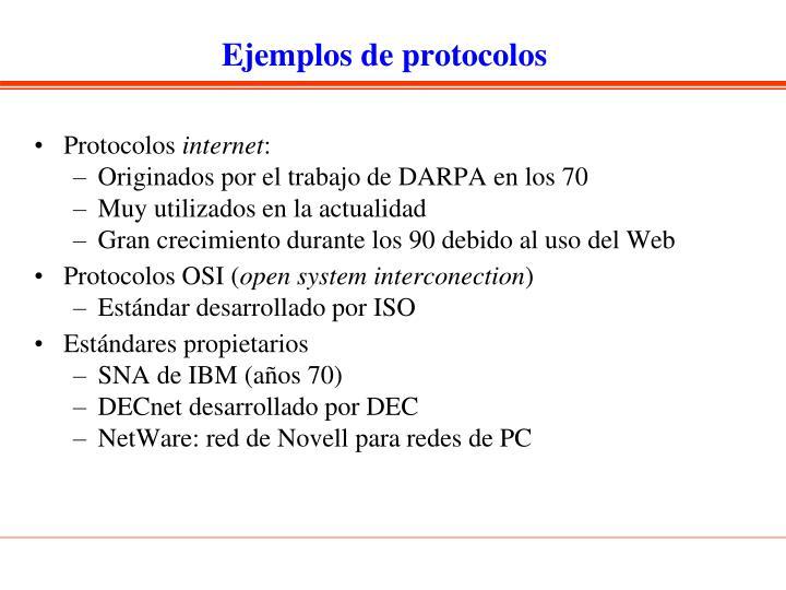 Ejemplos de protocolos