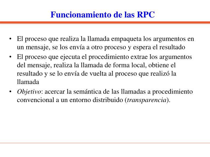 Funcionamiento de las RPC