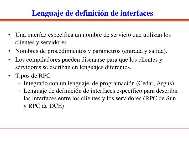 Lenguaje de definición de interfaces
