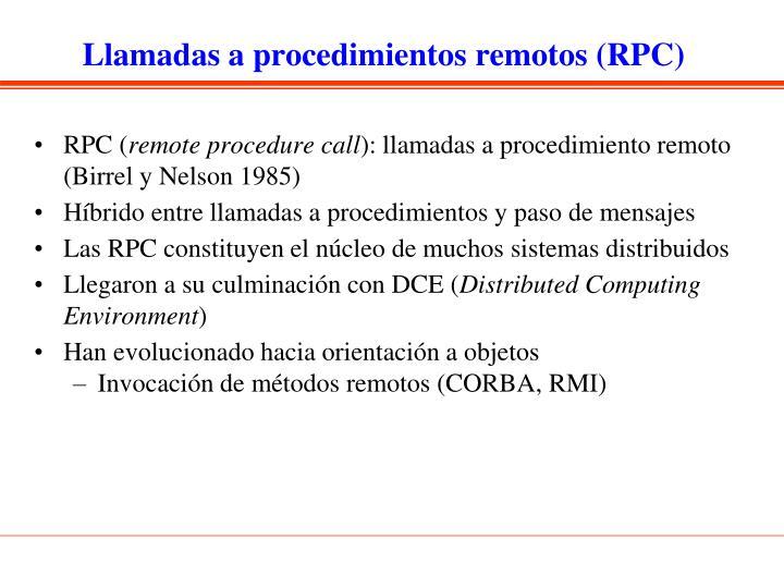 Llamadas a procedimientos remotos (RPC)