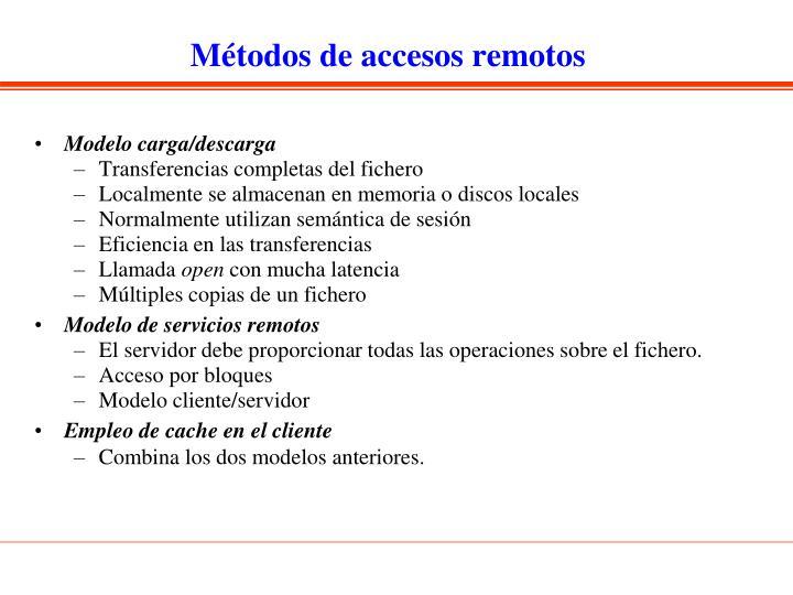 Métodos de accesos remotos