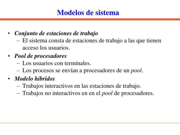 Modelos de sistema