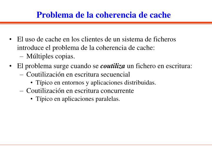 Problema de la coherencia de cache