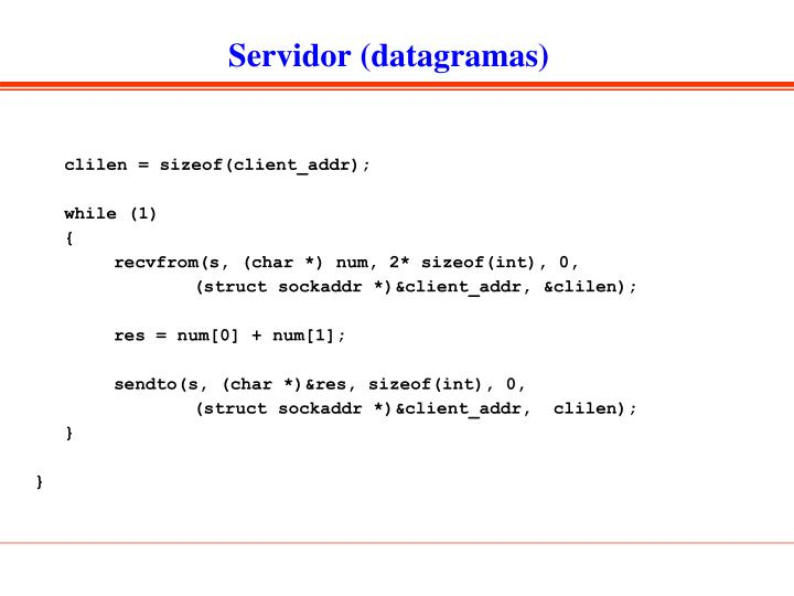 Servidor (datagramas)