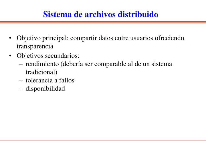 Sistema de archivos distribuido