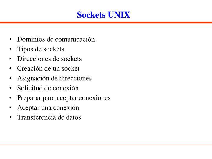 Sockets UNIX