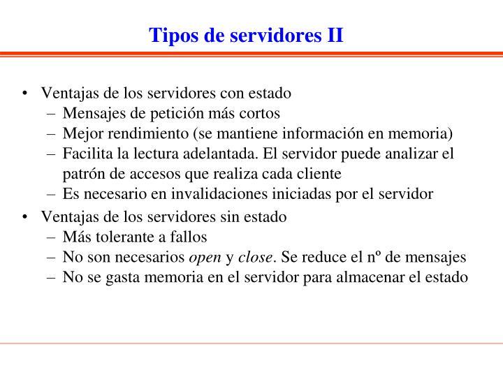 Tipos de servidores II