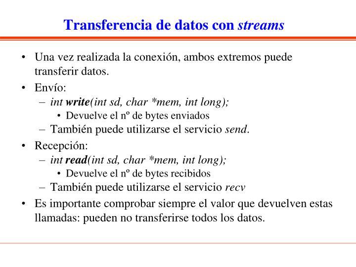 Transferencia de datos con