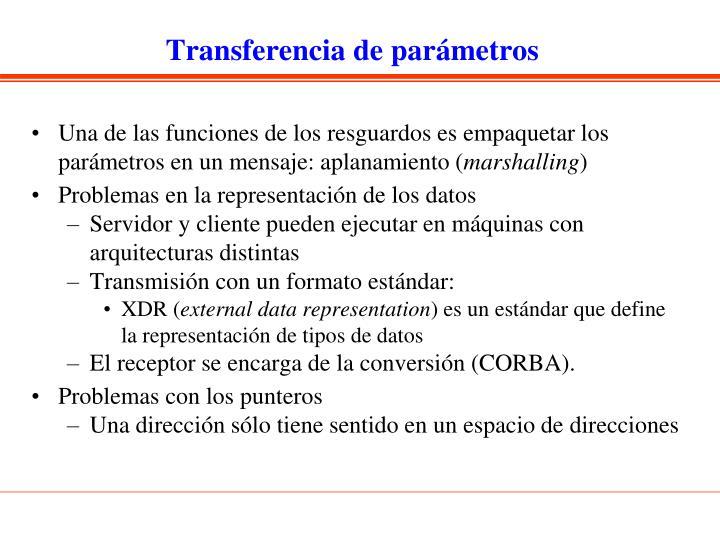 Transferencia de parámetros