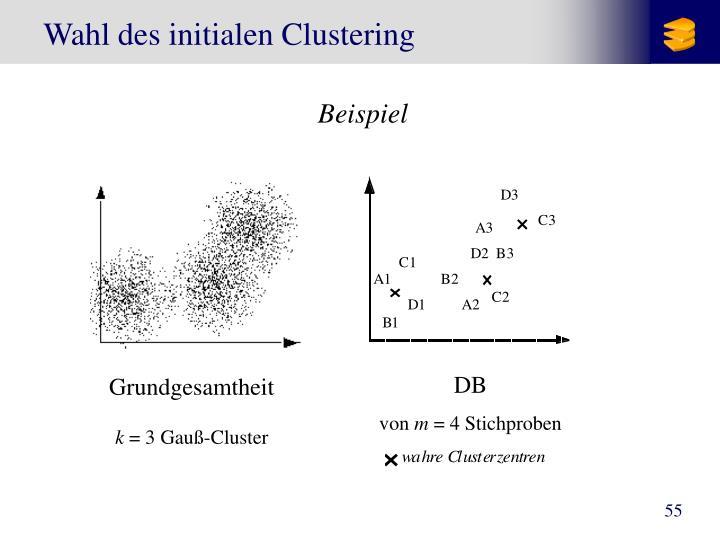 Wahl des initialen Clustering