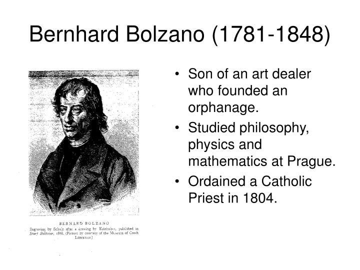 Bernhard Bolzano (1781-1848)