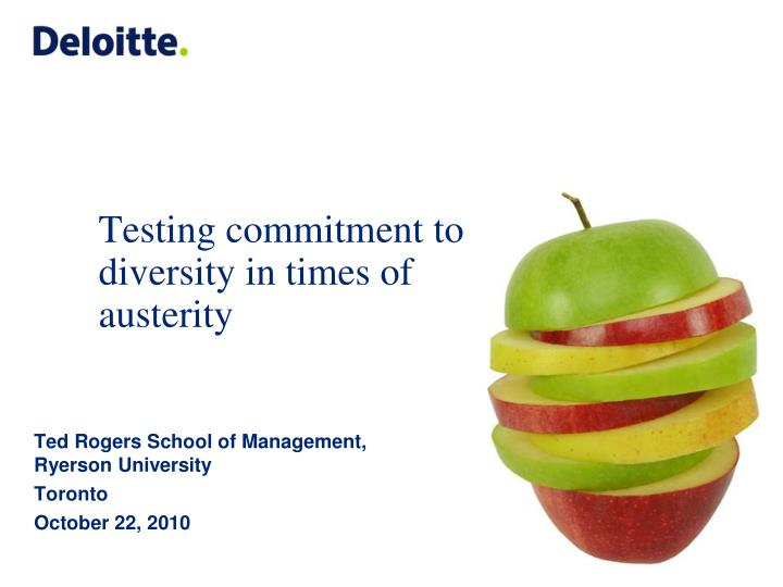 testing commitment to diversity in times of austerity n.