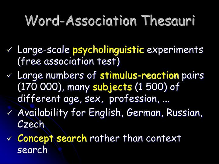 Word-Association Thesauri