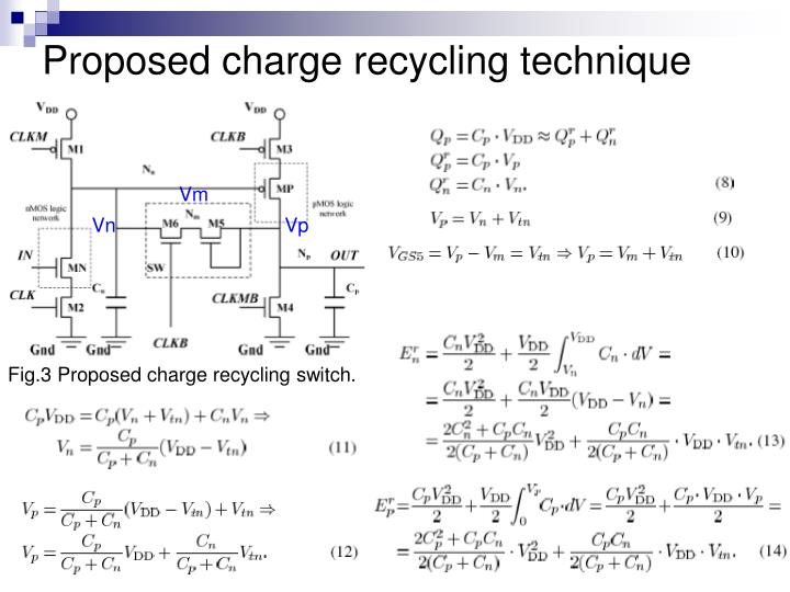 Proposed charge recycling technique