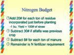 nitrogen budget1