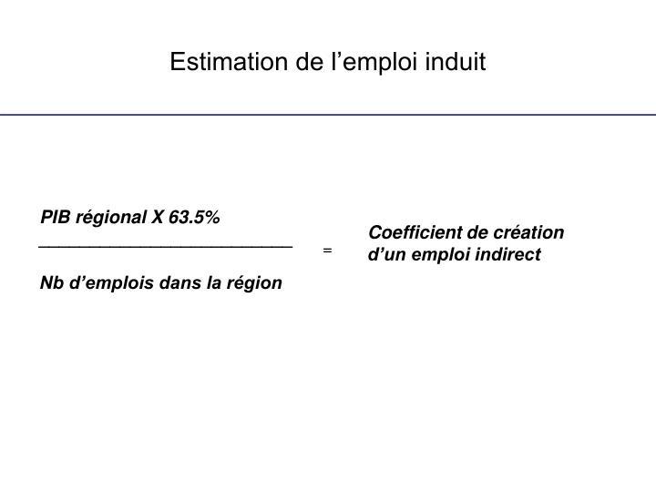 Estimation de l'emploi induit
