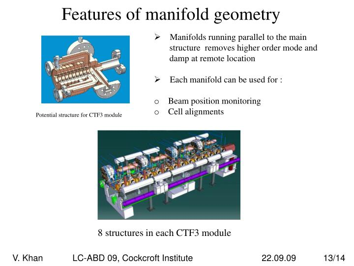 Features of manifold geometry