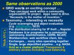 same observations as 2000