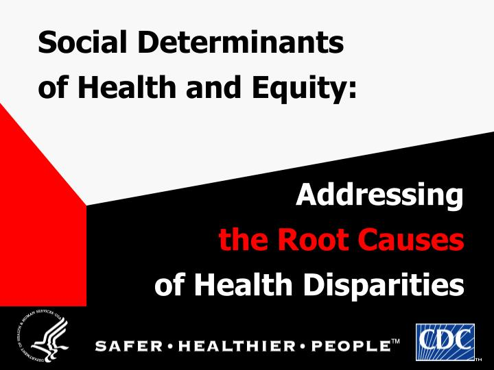 social determinants of health and equity n.