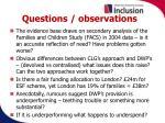 questions observations