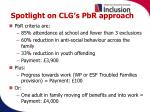 spotlight on clg s pbr approach