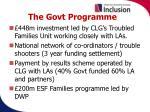 the govt programme