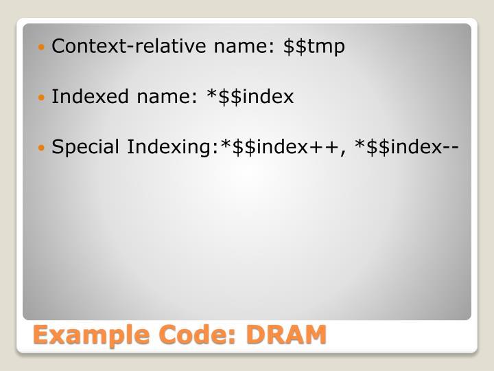 Context-relative name: $$tmp