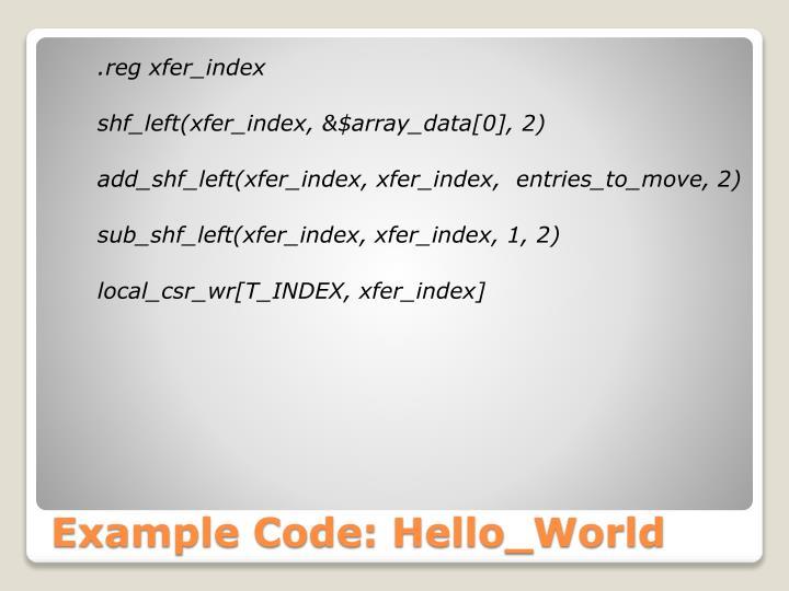 .reg xfer_index